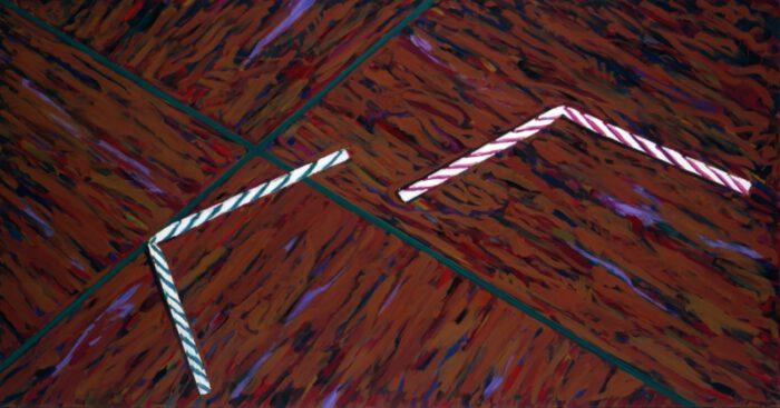 1979 01 01 Strohhalme geringelt Öl auf Leinwand 130x250 1