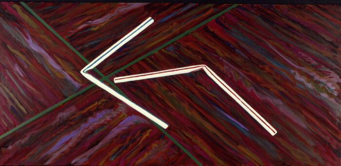 1979 01 02 Strohalme Öl auf Leinwand 118x250 cm