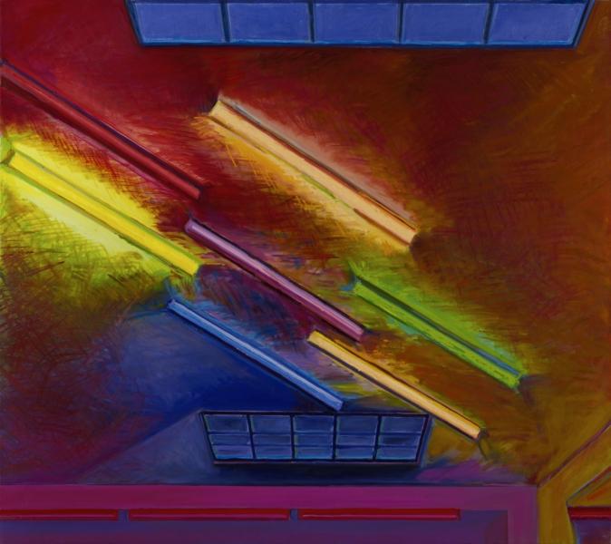 1979 03 01.Neon . Öl auf Leinwand 170x190cm