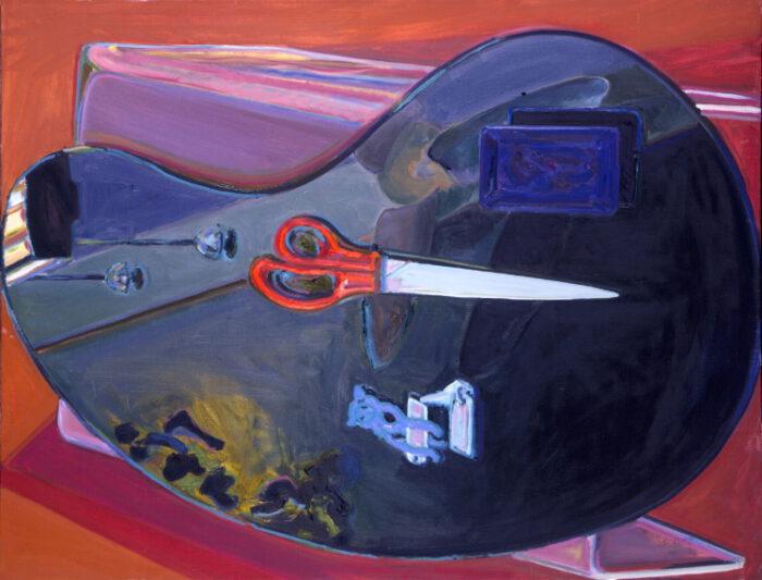 1979 06 01 Schere 2 Öl auf Leinwand 105x135 cm