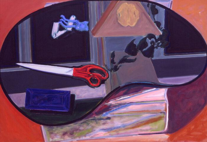 1979 06 02 Schere grau Öl auf Leinwand 90x130 cm