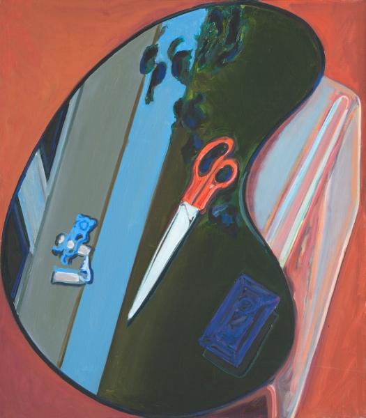 1979 06 03 Schere 1 Öl auf Leinwand 108x95 cm