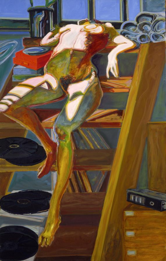 1979 07 02 Akt auf Treppe Öl auf Leinwand 171x110