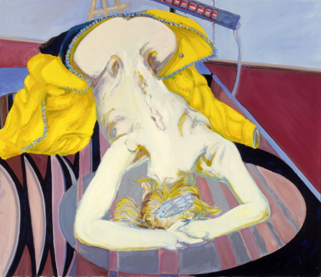 1979 08 02 Helga Motoradanzug Öl auf Leinwand 100x115 cm