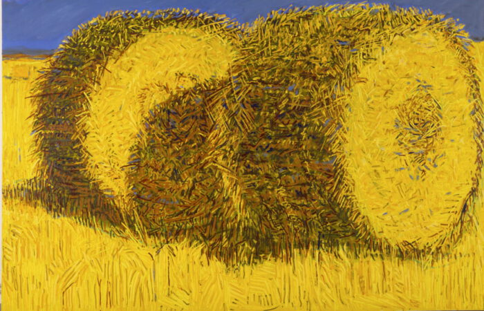 1979 10 01 Zwei Rollen Fontainejean Öl auf Leinwand 200x300 cm