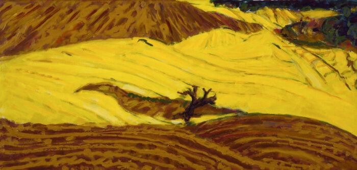 1979 10 02 o.T. Öl auf Leinwand 60x125 cm