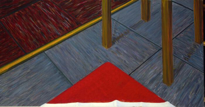 1979 11 01 Rotes Dreieck Öl auf Leinwand 100x190 cm