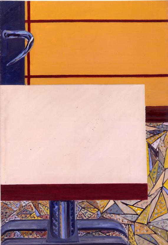 1979 11 06 Pariser Klapptisch 2 Öl auf Leinwand 160x111 cm