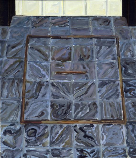 1979 11 07 Graue Fliesen Öl auf Leinwand 100x85 cm