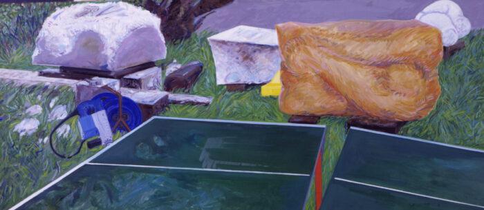 1979 15 01 Steingarten I Öl auf Leinwand 130x300 cm
