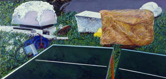 1979 15 02 Steingarten II Öl auf Leinwand 150x300 cm