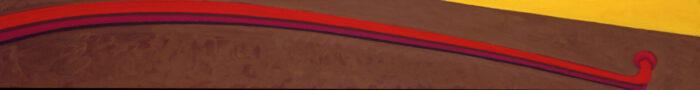 1979 20 01 Handlauf Öl auf Leinwand 40x300 cm