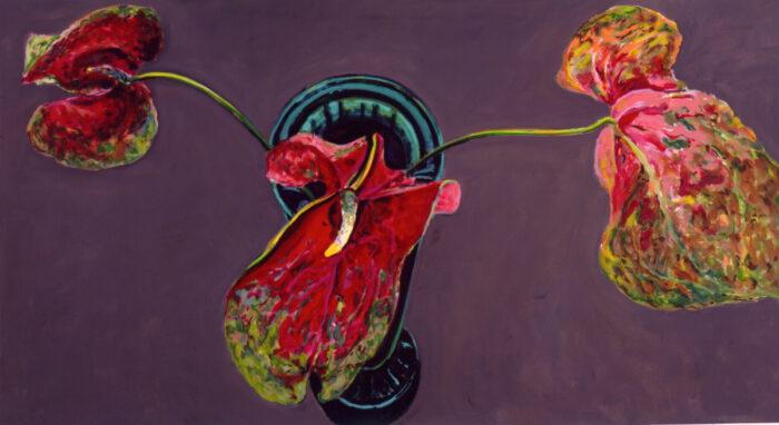 1990 01 01 Anthurien Öl auf Leinwand 110x200 cm