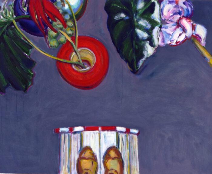 1990 01 15 von der Leiter Kölner Öl auf Leinwand 80x100 cm