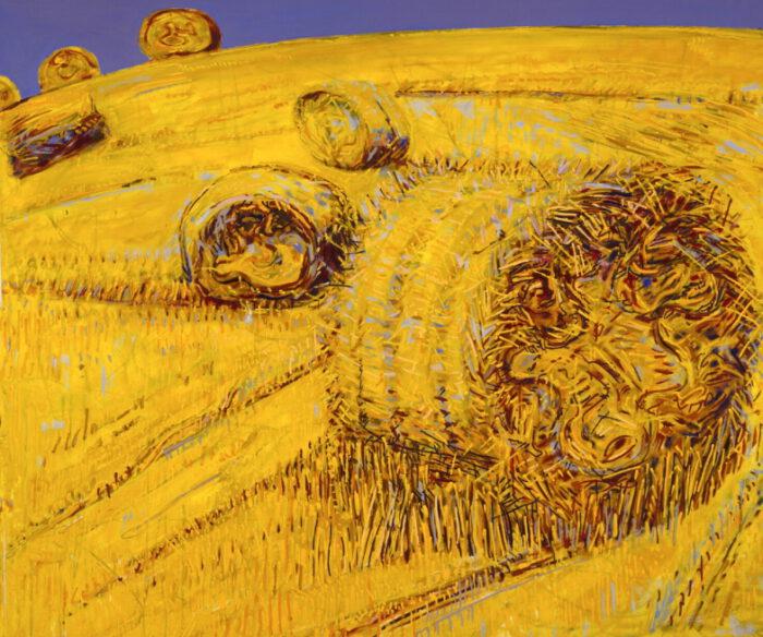 1990 02 01 Strohrollen I Öl auf Leinwand 206 5x244 cm