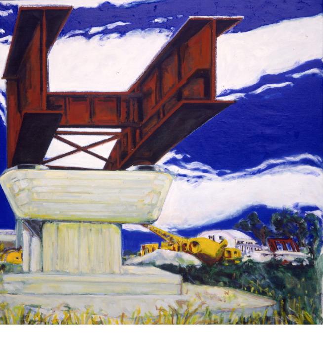 1990 03 09 Baustelle III Öl auf Leinwand 206x200 cm
