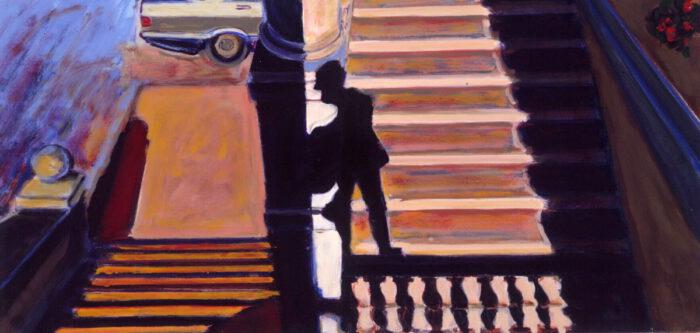1990 04 01 Loggia Öl auf Leinwand 50x100 cm