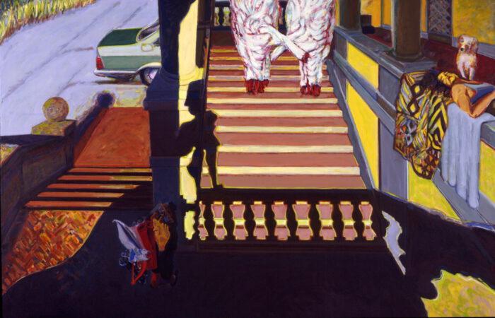 1990 04 02 Loggia I Öl auf Leinwand 207x318 cm