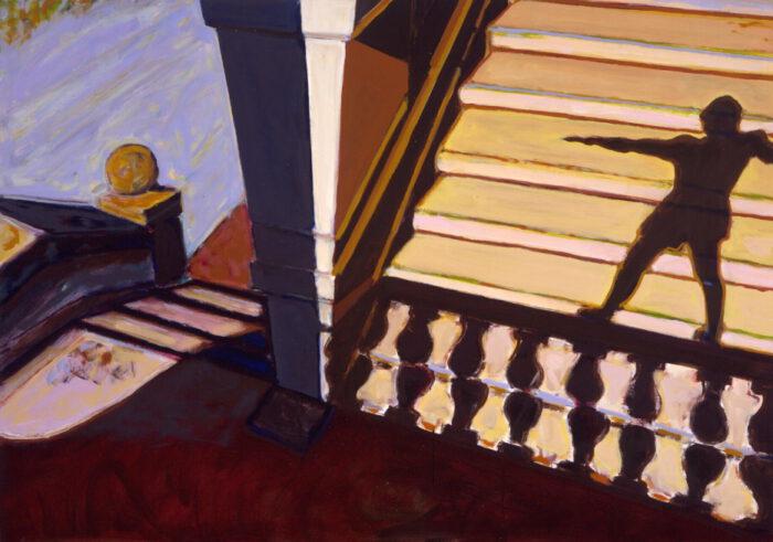 1990 04 05 Loggia III Öl auf Leinwand 110x155 cm