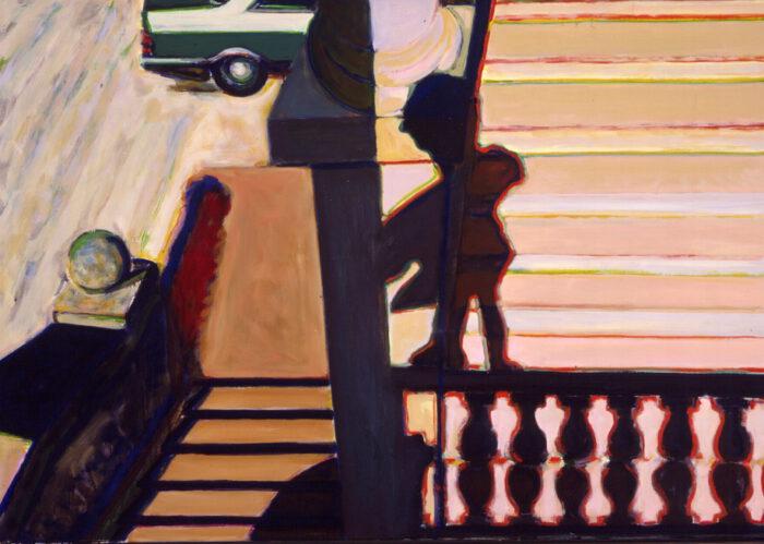 1990 04 07 Loggia II Öl auf Leinwand 110x135 cm