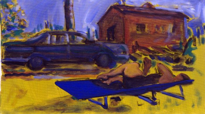 1990 05 01 Testa Acryl auf Baumwolle 40x70 cm
