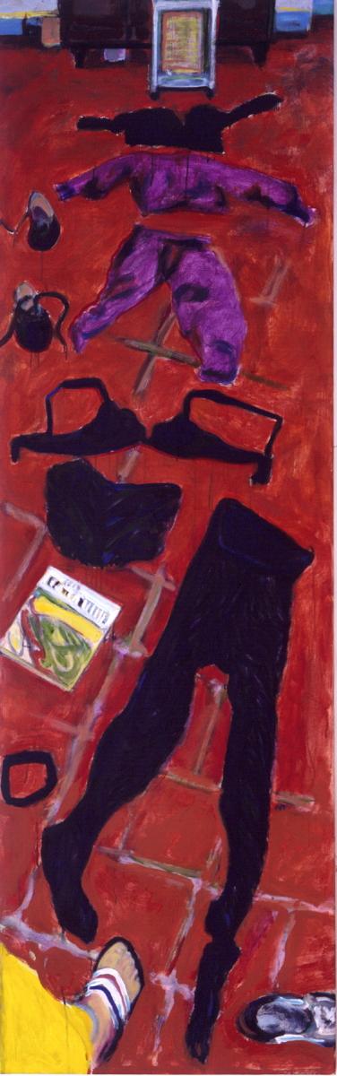 1990 05 02 Testa Zimmer Öl auf Leinwand 205x65 cm