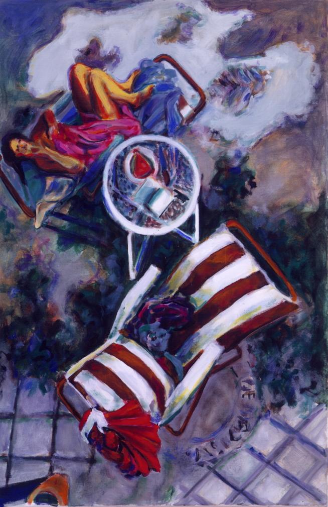 1990 05 08 o.T. Testa Acryl auf Baumwolle 120x80 cm
