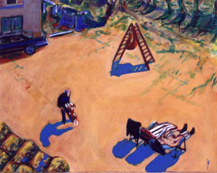 1990 05 12 Testaferrata Acryl auf Baumwolle 80x100 cm