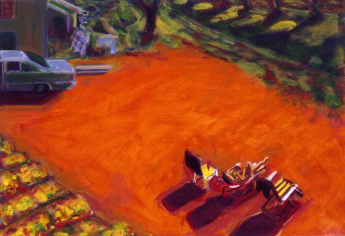1990 05 17 o.T. Testa Öl auf Leinwand 70x100 cm