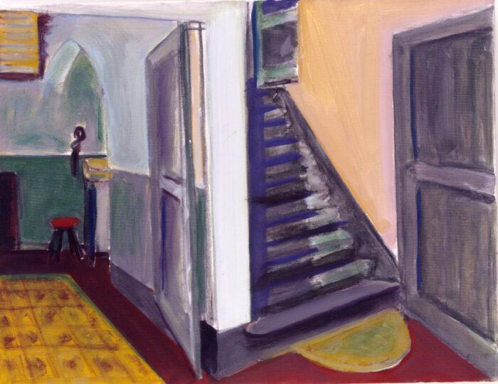 1990 06 01 Treppe I Öl auf Leinwand 62x82 cm