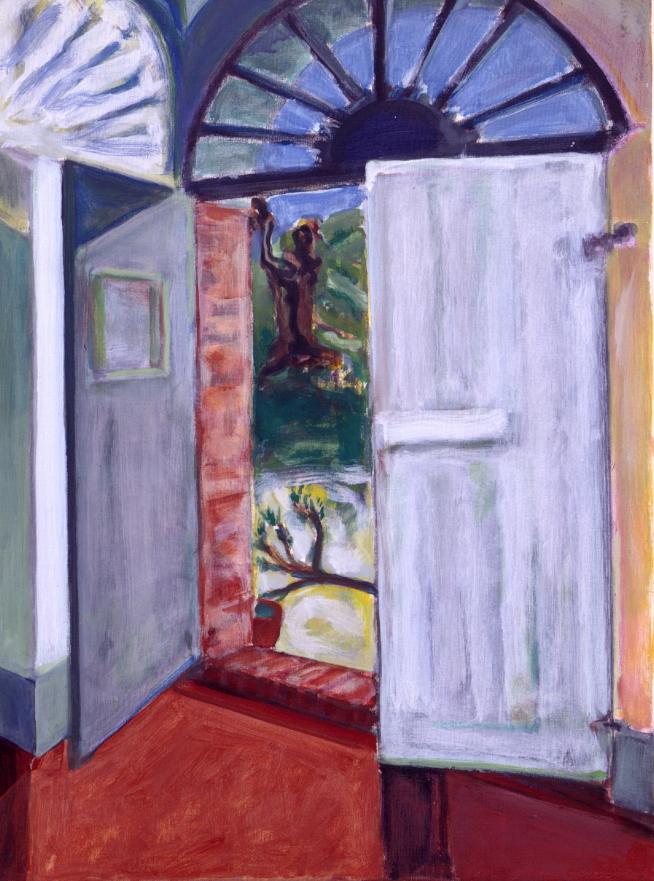 1990 06 03 Testa Gouache Kohle auf Leinwand 82x62 cm