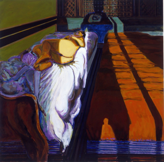 1990 09 02 Marokko Öl auf Leinwand 160x160 cm