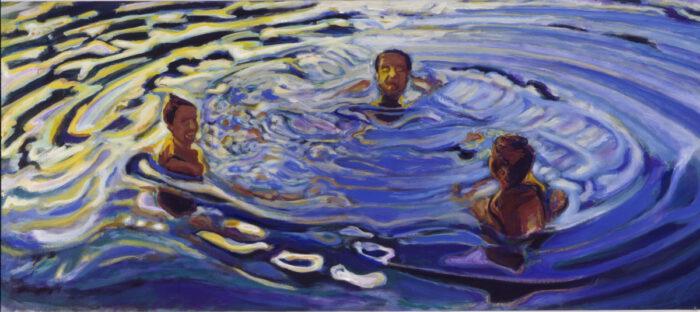1990 12 01 Reservoir Acryl auf Nessel 91x206 cm