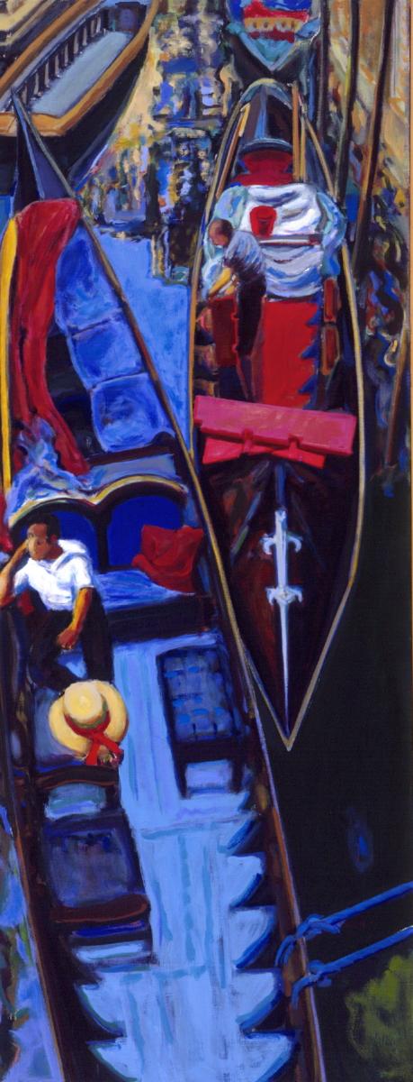 1990 13 02 Venedig Öl auf Leinwand 240x95 cm