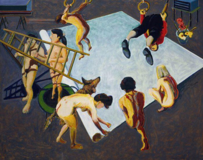 1990 15 01.Atelier Raute.Öl auf Leinwand 200x250cm