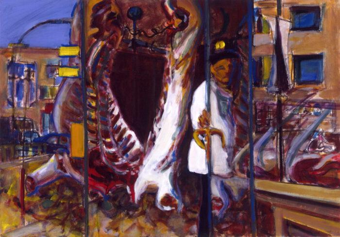 1990 17 01 Bei Impruneta Öl auf Leinwand 70x100 cm