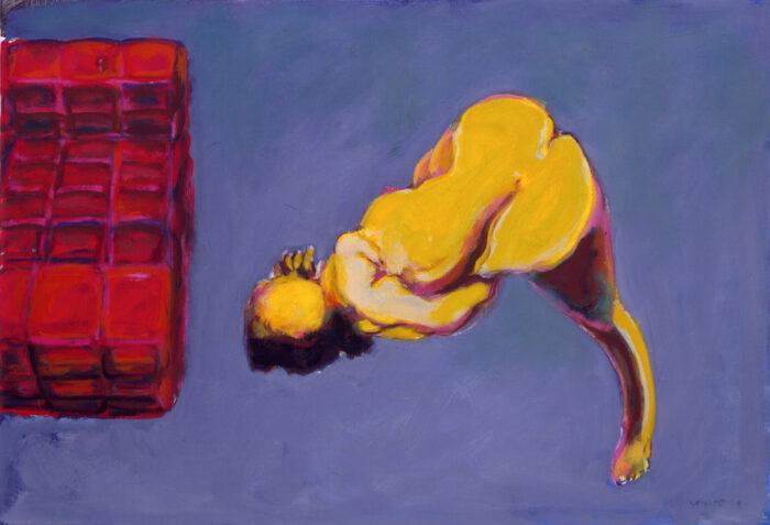 1990 18 03 o.T. Claudia Öl auf Leinwand 70x100 cm