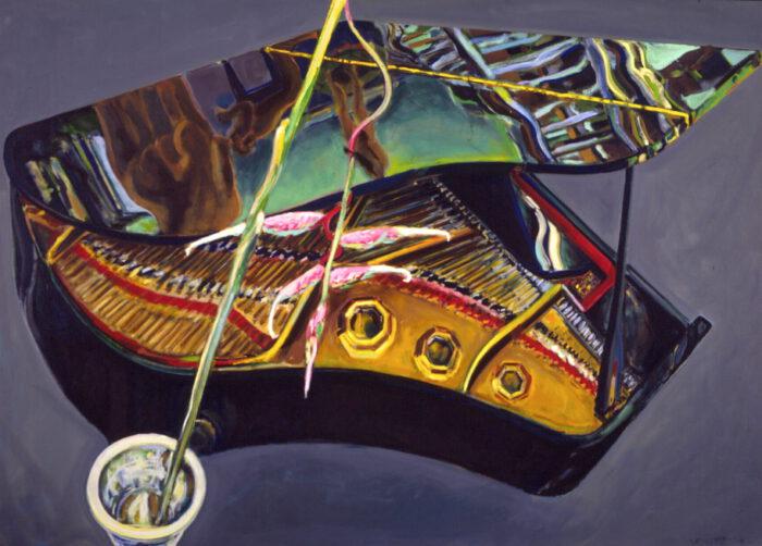 1990 20 01 Flügel Helikonie Öl auf Leinwand 172x240 cm