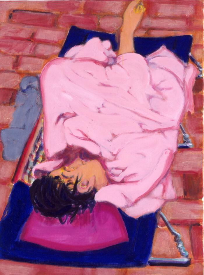 1991 04 03 Casa II Öl aufNessel 80x60 cm