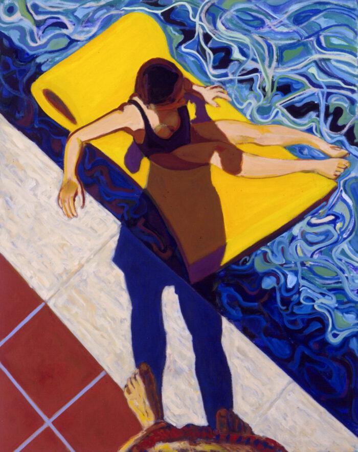 1991 05 05 o.T. Poo Schatten Öl auf Leinwand 150x120 cm