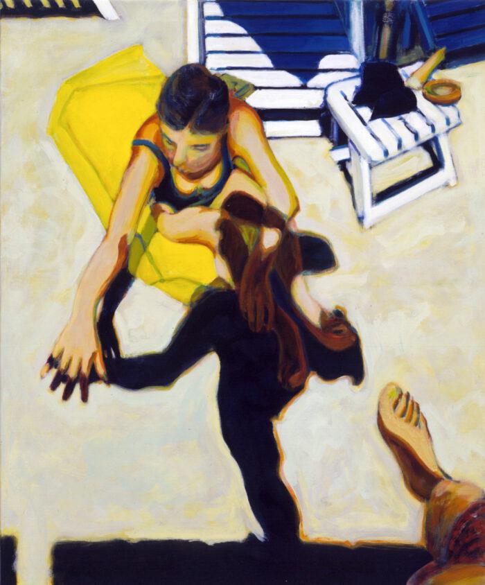 1991 05 08 Testa Acryl auf Nessel 119x995 cm