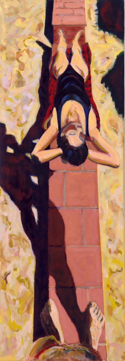 1991 05 10 o.T. Öl auf Leinwand 170x60 cm