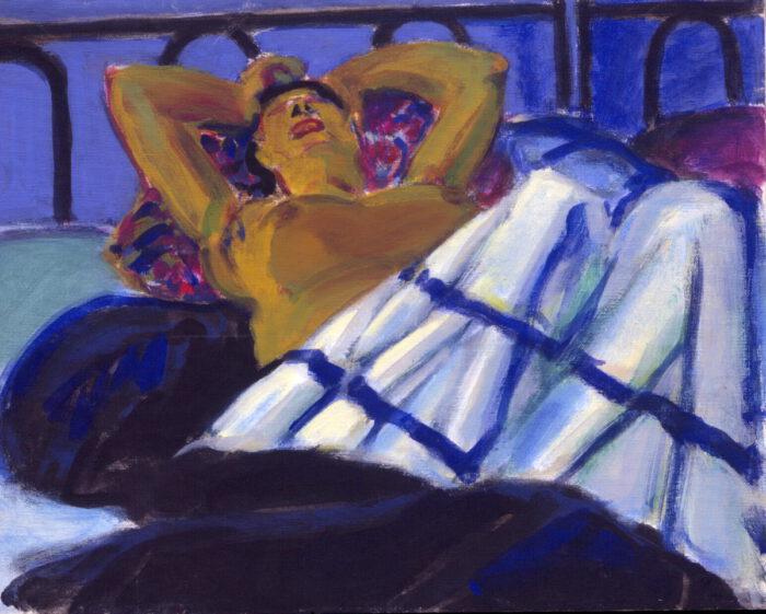 1991 06 03 Ulla Bleu III Acryl auf Leinwand 40x50 cm