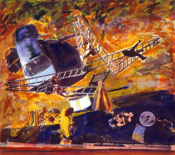 1991 07 03 Laja Fotokopie und Öl auf Leinwand 75x83 cm