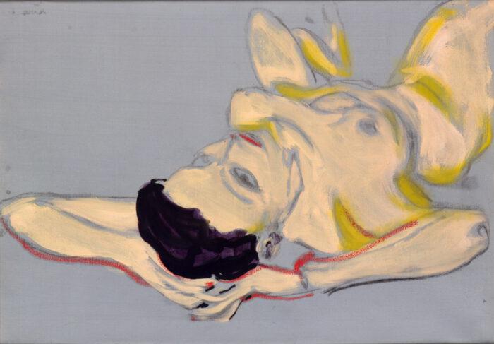 1991 08 04 Reit Studie Acryl auf Leinwand 70x50 cm