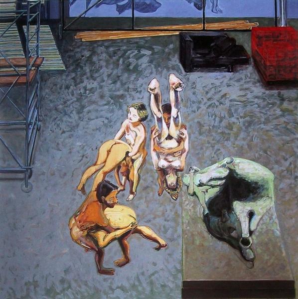 1991 09 01 Atelier II Öl auf Leinwand 300x300 1