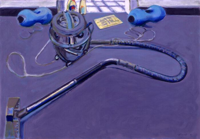 1991 13 01 Nilfisk Hanteln Öl auf Leinwand 70x100 cm