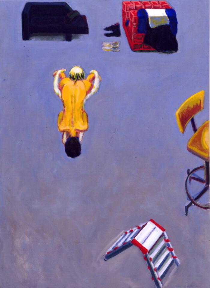 1991 16 01 Atelier Öl auf Leinwand 150x110 cm
