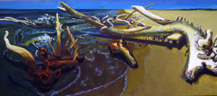 1991 18 01 Marina di Pisa Öl auf Leinwand 120x265 cm