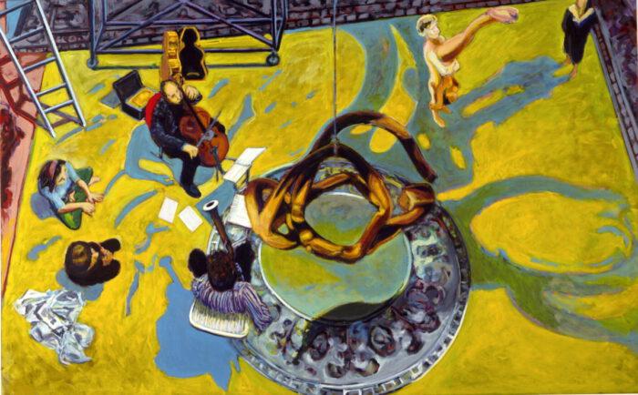 1991 20 01 o.T. Öl auf Leinwand 205x325 cm